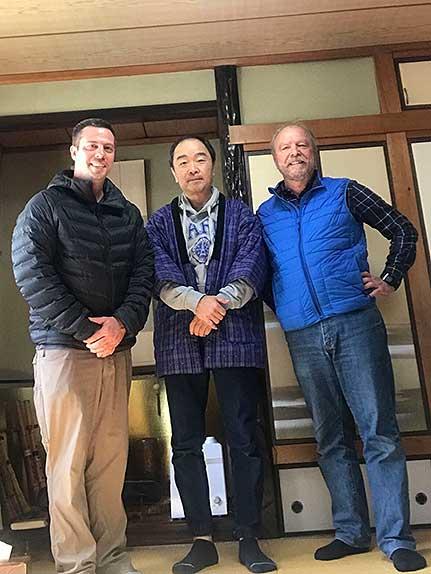 Tsurugi Shakuhachi shop in Kumamoto with Jeff Cairns