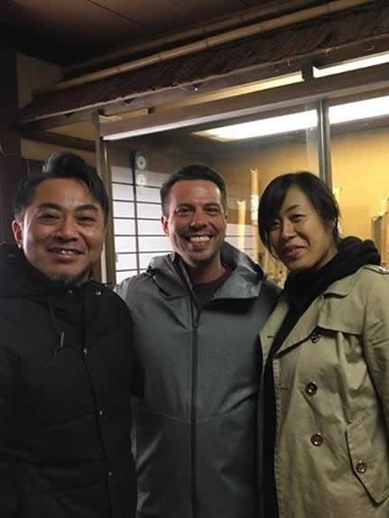 Shawn and Mayumi with Shakuhachi maker Shingo Kimura